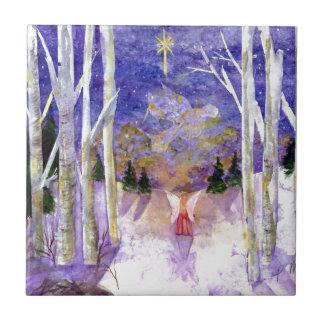 Christmas Dove Angel Tile
