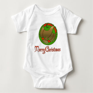 Christmas Dove Baby Bodysuit
