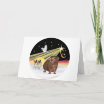 Christmas Dove - Guinea Pig 3 Holiday Card