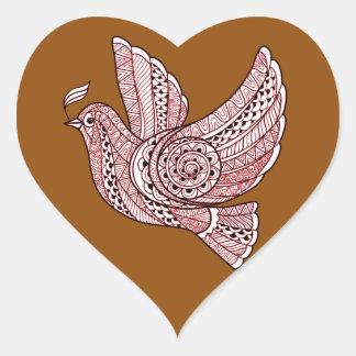 Christmas Dove Heart Sticker