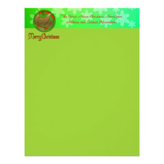 Christmas Dove Letterhead