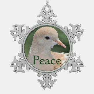 Christmas dove peace ornament
