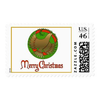 Christmas Dove Postage Stamp