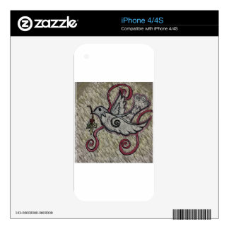 Christmas Dove Skin For The iPhone 4S