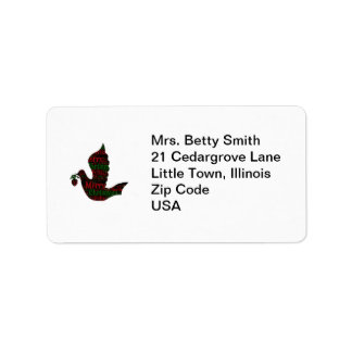 Christmas Dove with Christmas Songs Label