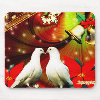 Christmas Doves Mouse Pad