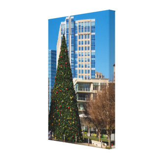 Christmas Downtown Dallas Canvas Print