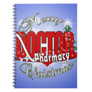 CHRISTMAS DR DOCTOR PHARMACY NOTEBOOK