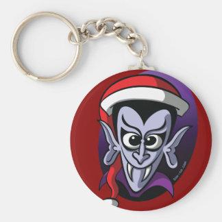 Christmas Dracula Basic Round Button Keychain