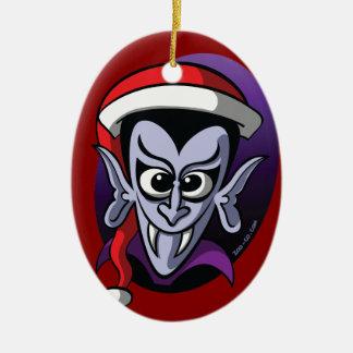 Christmas Dracula Ceramic Ornament