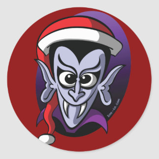 Christmas Dracula Classic Round Sticker