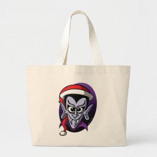 Christmas Dracula Large Tote Bag