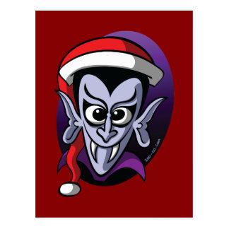 Christmas Dracula Postcard