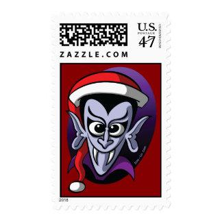 Christmas Dracula Stamp