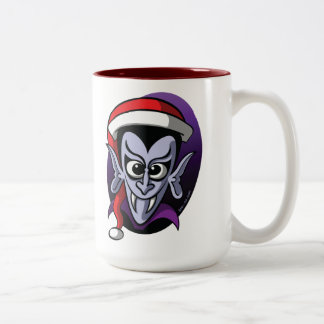 Christmas Dracula Two-Tone Coffee Mug