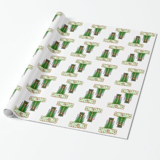 Christmas Drag Tree Holiday Wrapping Paper Glossy