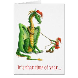 Christmas Dragon 2012 - card