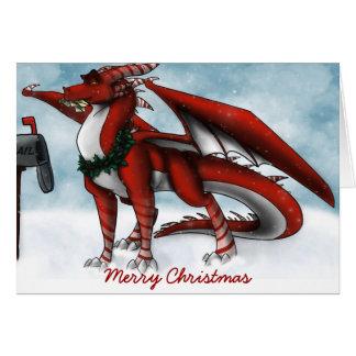 Christmas Dragon Card