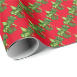 """Christmas dragon Holiday wrapping paper<br><div class=""""desc"""">design by Kristi W. Designs at www.graphicsnbits.com</div>"""