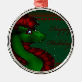Christmas Dragon Metal Ornament