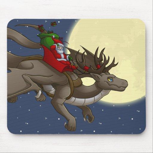 Christmas Dragon Mousepad