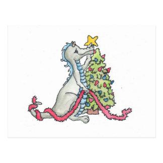 Christmas Dragon Postcard