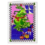 Christmas Dragon Tree Greeting Cards