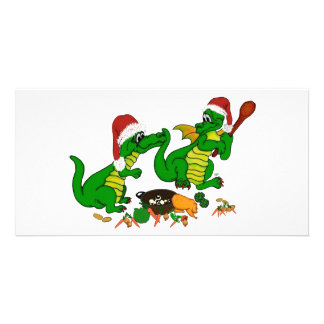 Christmas Dragons - today I wants cook Card