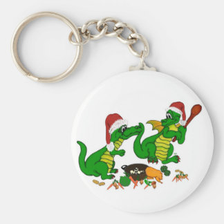 Christmas Dragons- today I wants cook Basic Round Button Keychain