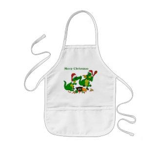 Christmas Dragons - today I wants cook Kids' Apron