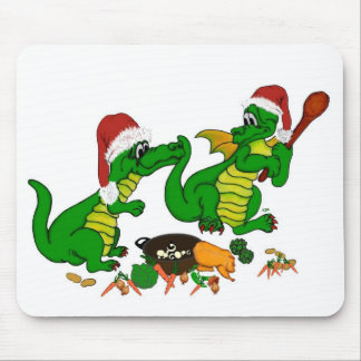 Christmas Dragons - today I wants cook Mouse Pad