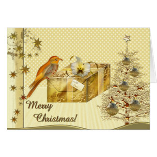 Christmas Dream in Gold Card
