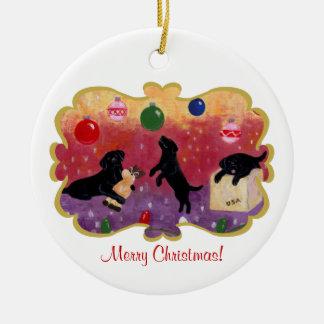 Christmas Dreaming Black Lab Christmas Ornament