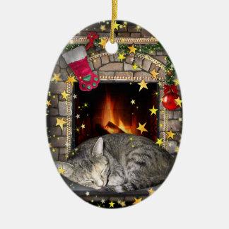 Christmas Dreams Ceramic Ornament