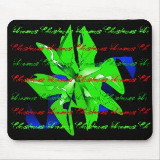 Christmas Dreams In Bright Green Poinsettia I Mouse Pad
