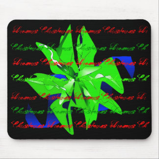 Christmas Dreams In Bright Green Poinsettia Mouse Pad