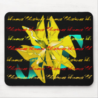 Christmas Dreams In Gold Poinsettia I Mouse Pad