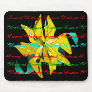 Christmas Dreams In Gold Poinsettia Mouse Pad
