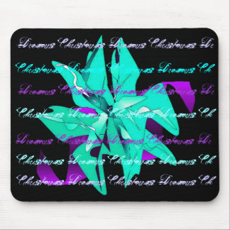 Christmas Dreams In Light Blue Poinsettia III Mouse Pad