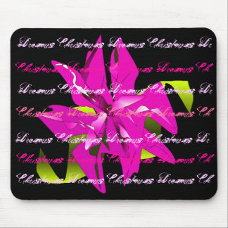 Christmas Dreams In Pink Poinsettia I Mouse Pad