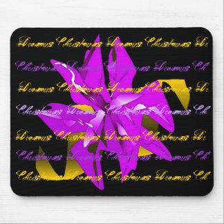 Christmas Dreams In Purple Poinsettia I Mouse Pad