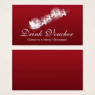 Christmas Drink Voucher Santa Red