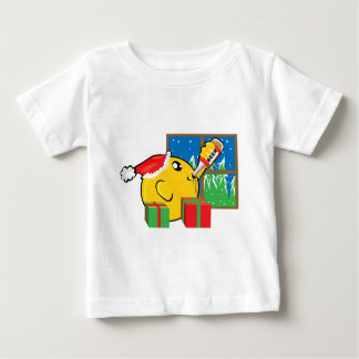 christmas drinking and presents baby T-Shirt