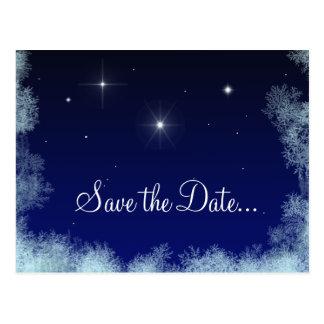 Christmas Drinks Save the Date Postcard