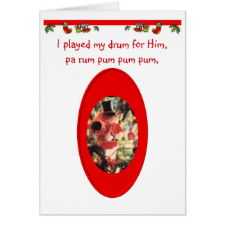 Christmas Drummer Boy Greeting Card