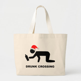 Christmas Drunk Crossing Sign Bags