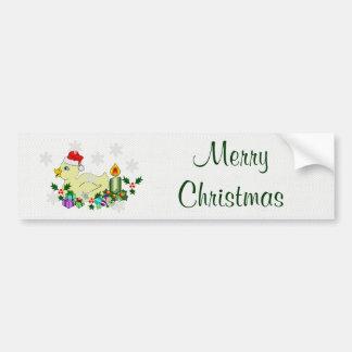 Christmas Duckie Car Bumper Sticker