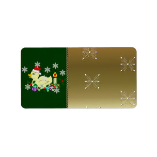 Christmas Duckie Personalized Address Label