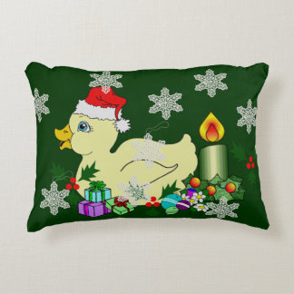 Christmas Duckie Accent Pillow