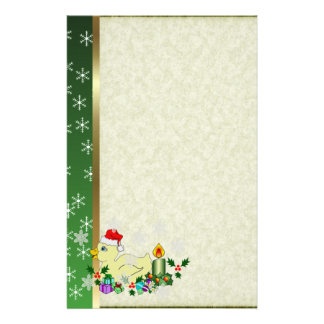 Christmas Duckie Personalized Stationery